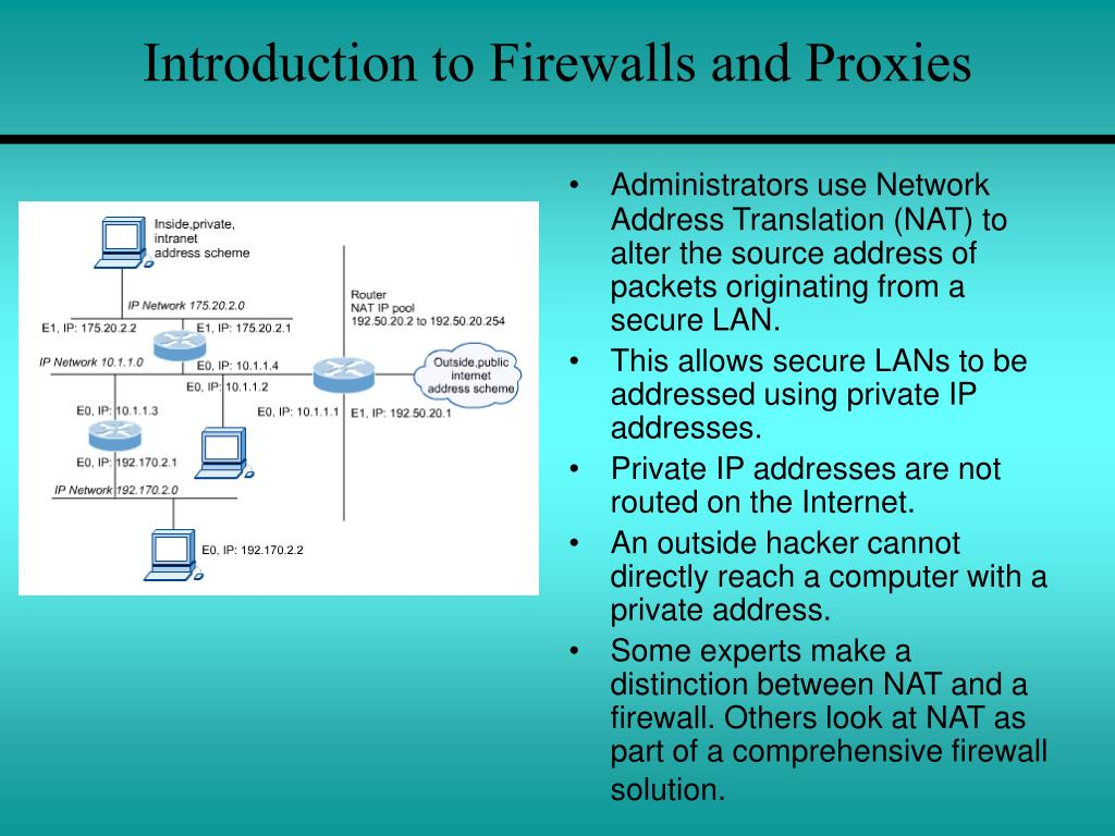 Introduction to Firewalls and Proxies