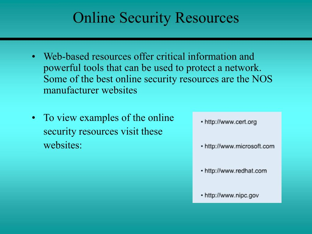 Online Security Resources
