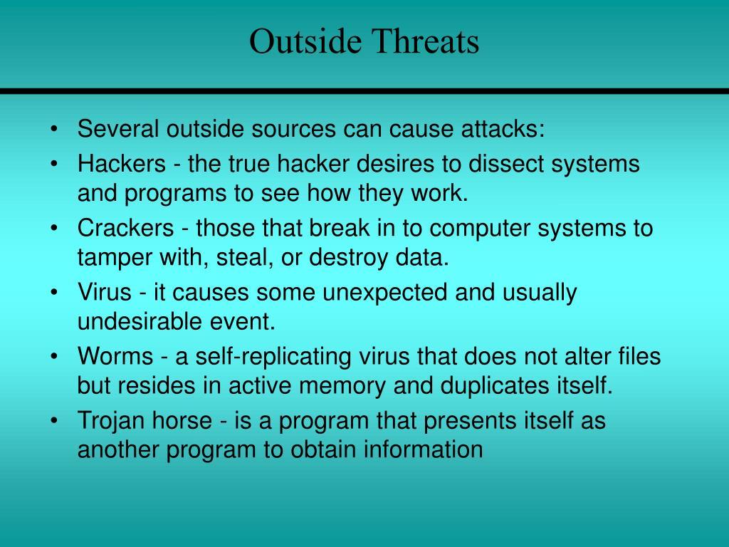 Outside Threats