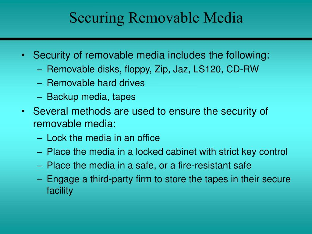 Securing Removable Media