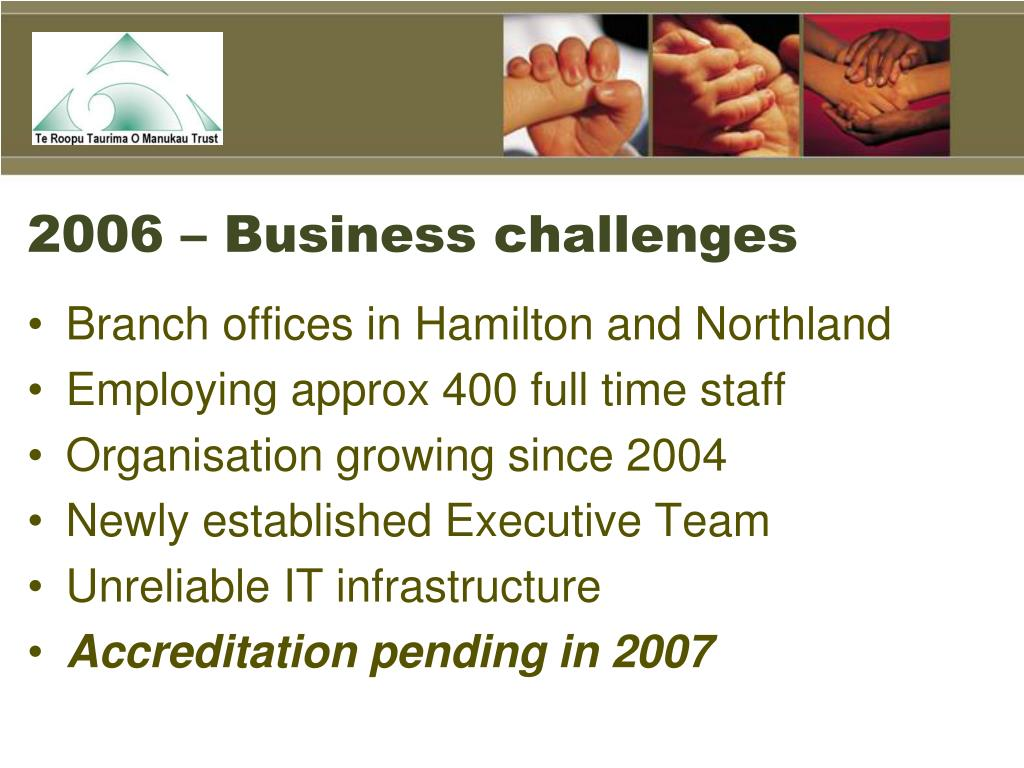 2006 – Business challenges