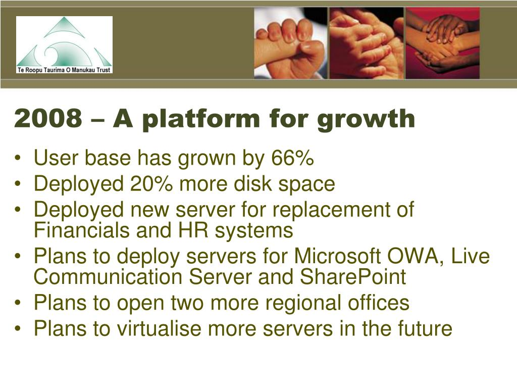 2008 – A platform for growth
