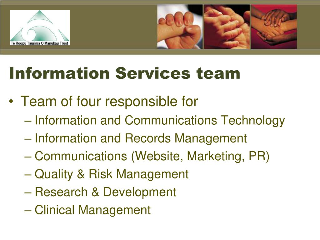 Information Services team