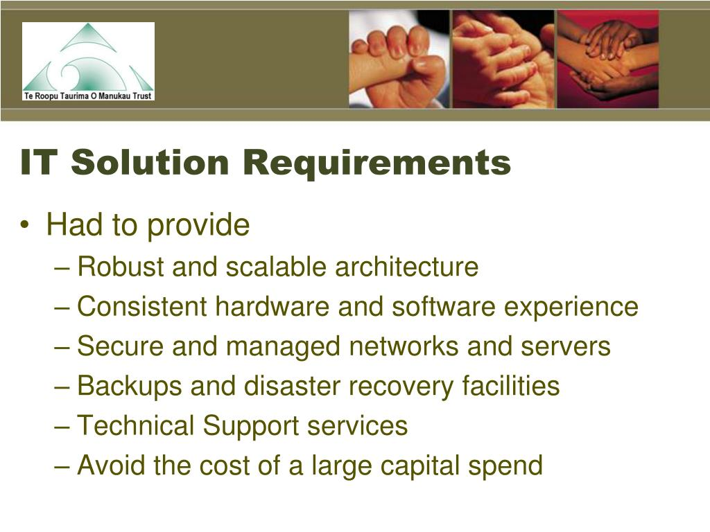 IT Solution Requirements