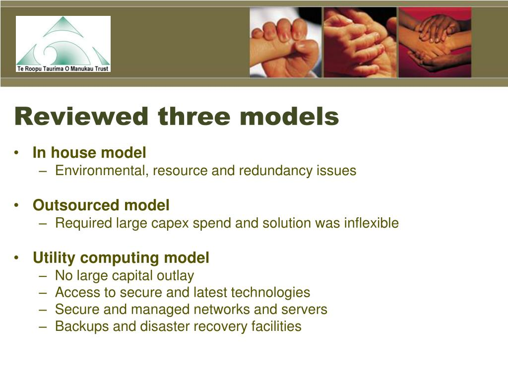 Reviewed three models