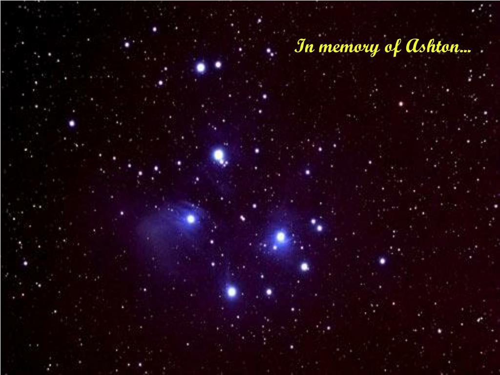 In memory of Ashton...