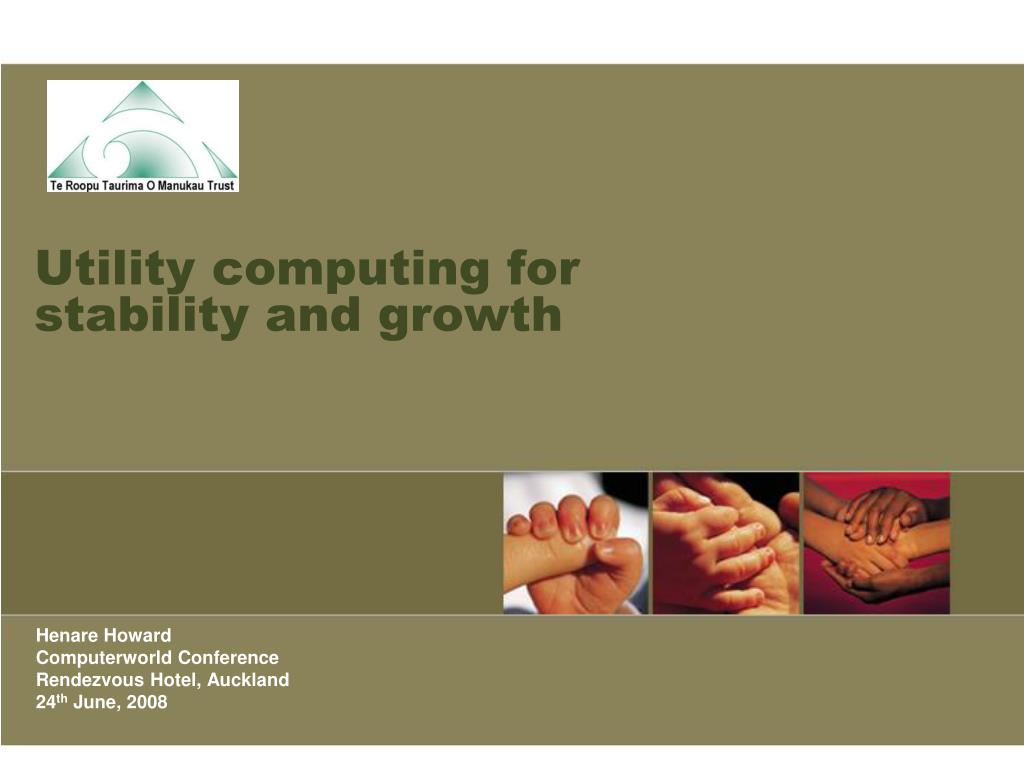 Utility computing for stability and growth