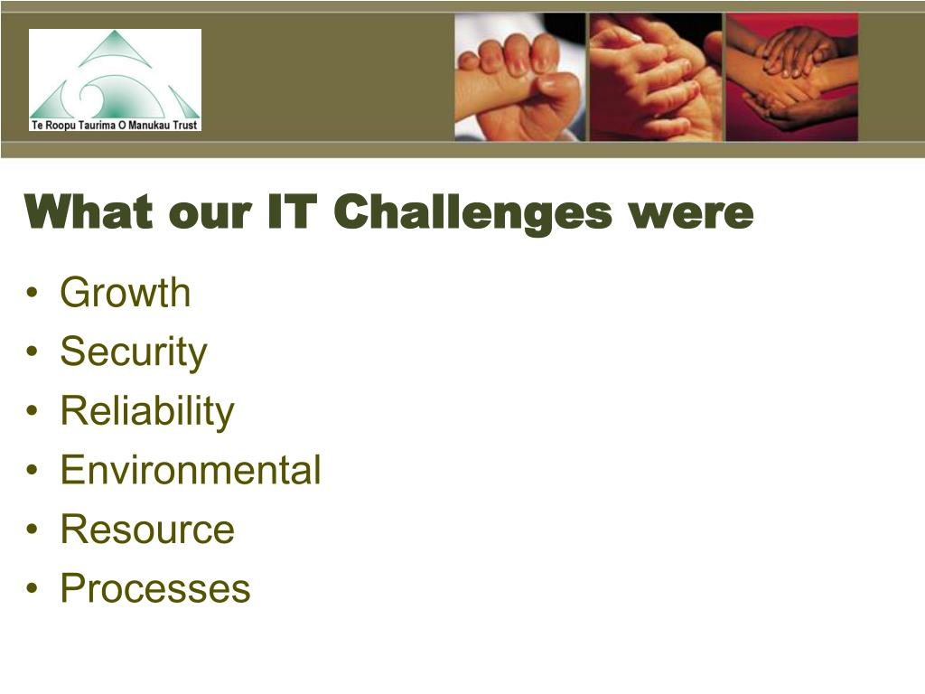 What our IT Challenges were