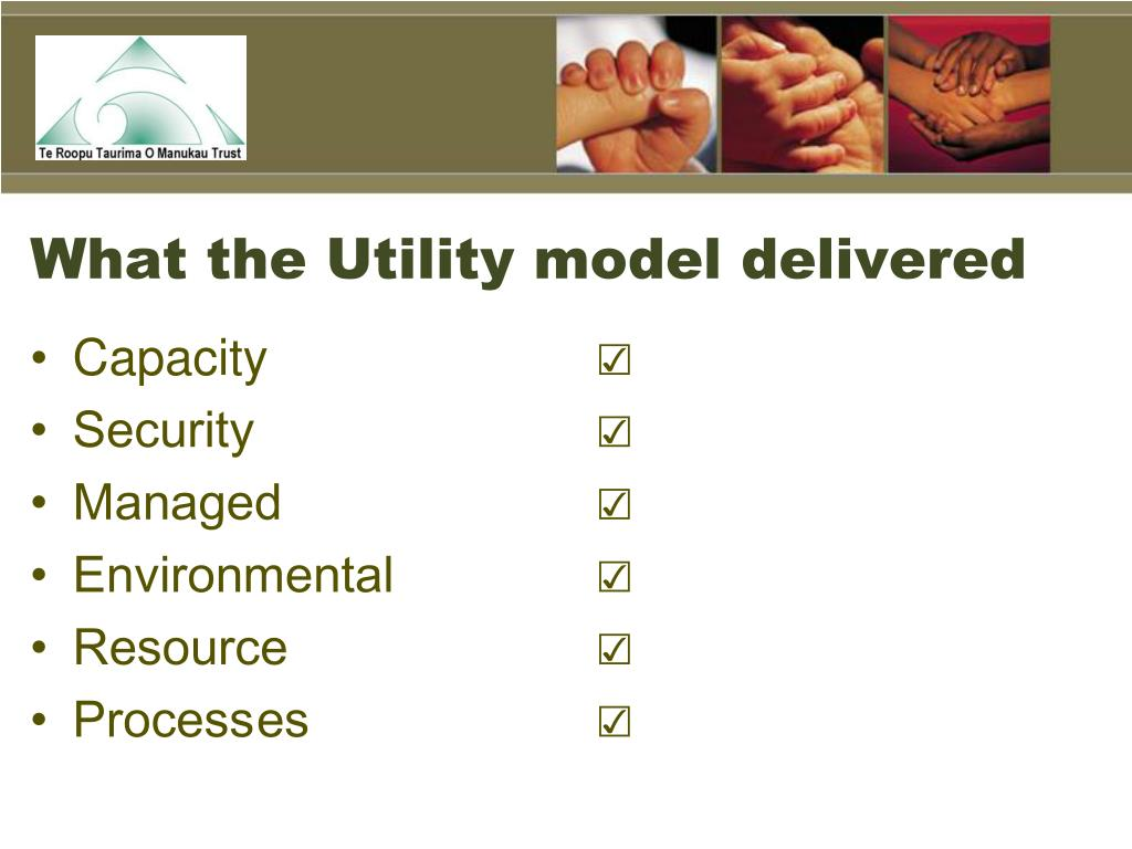 What the Utility model delivered