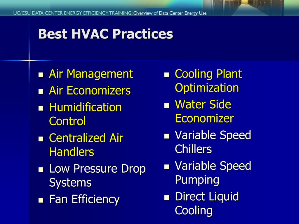 Best HVAC Practices