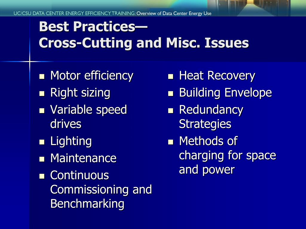 Best Practices—