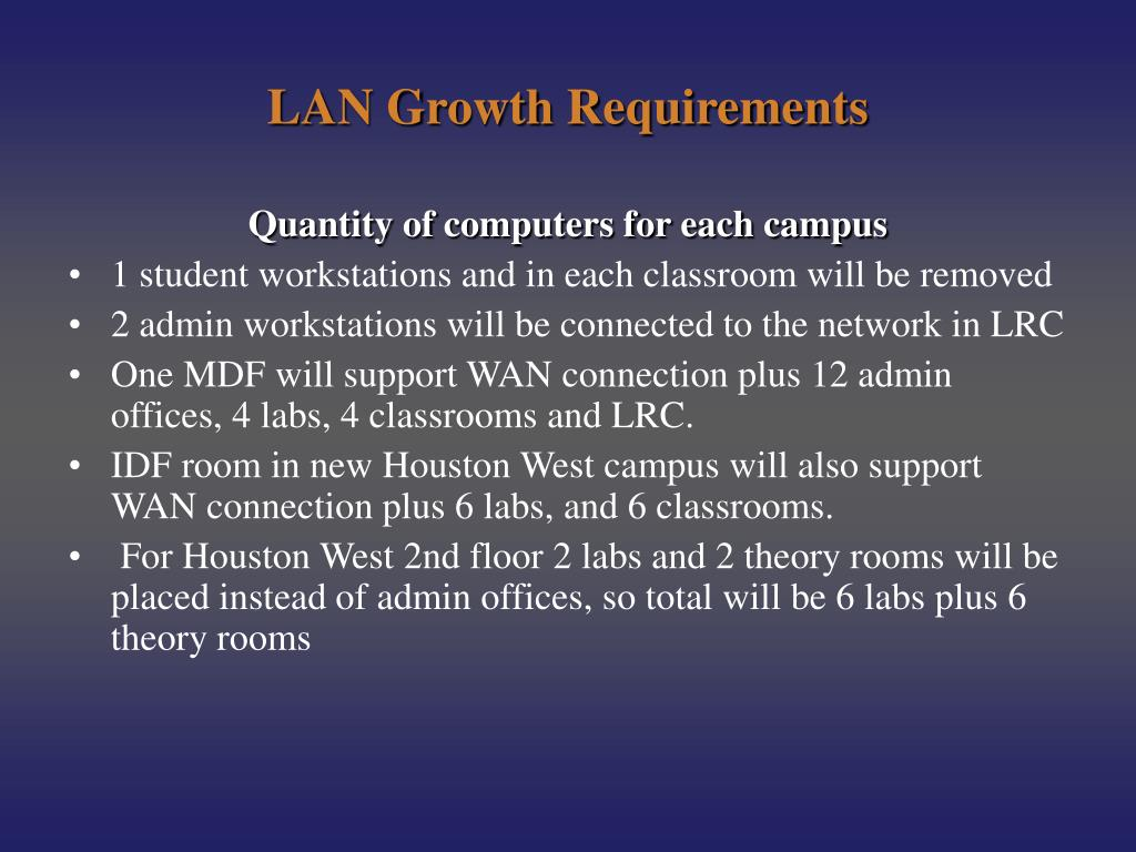 LAN Growth Requirements