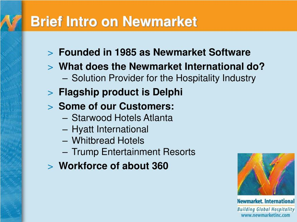 Brief Intro on Newmarket