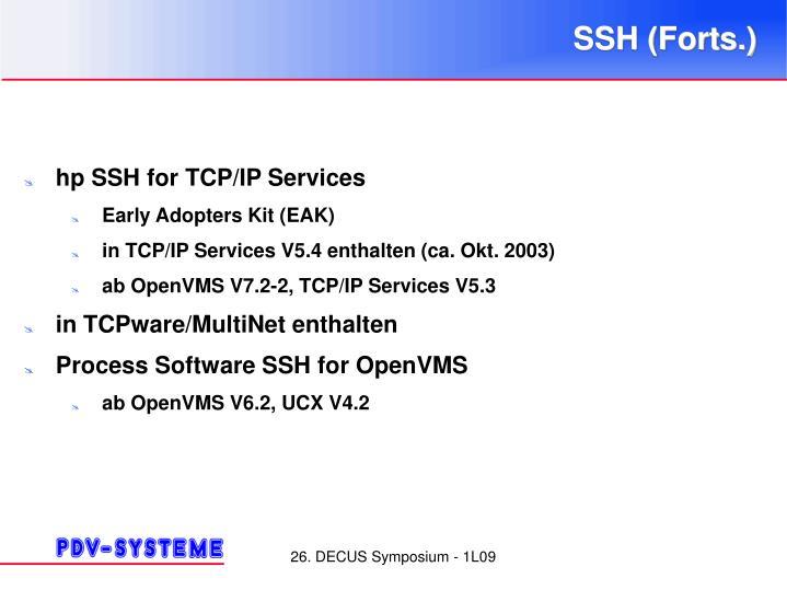 SSH (Forts.)