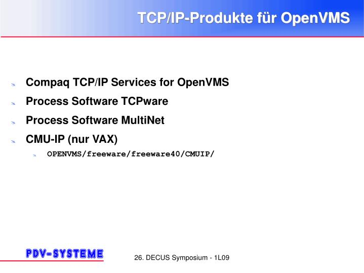 Tcp ip produkte f r openvms