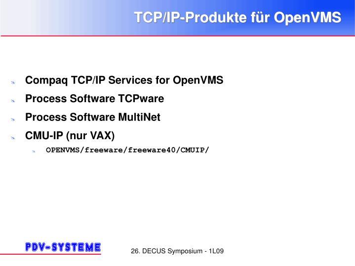 TCP/IP-Produkte für OpenVMS