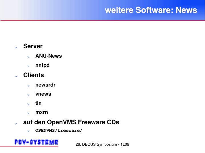 weitere Software: News