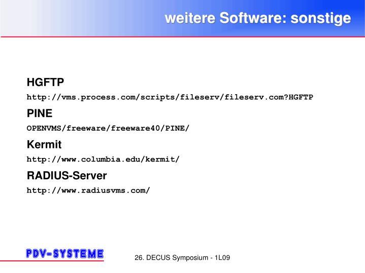 weitere Software: sonstige