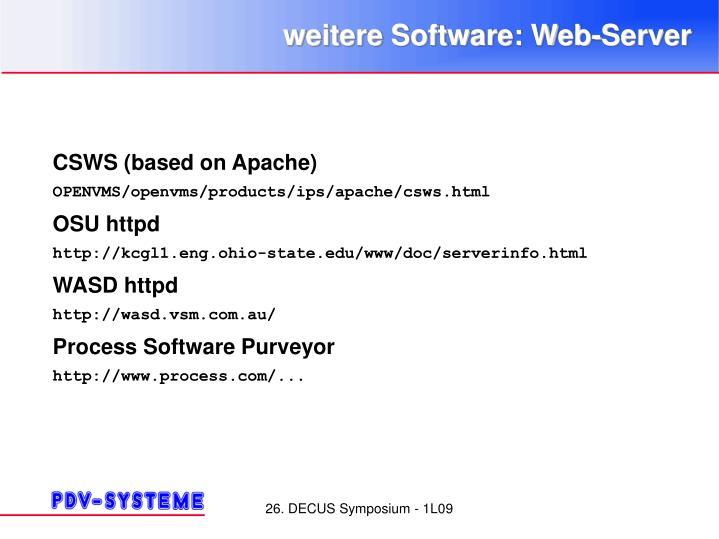 weitere Software: Web-Server