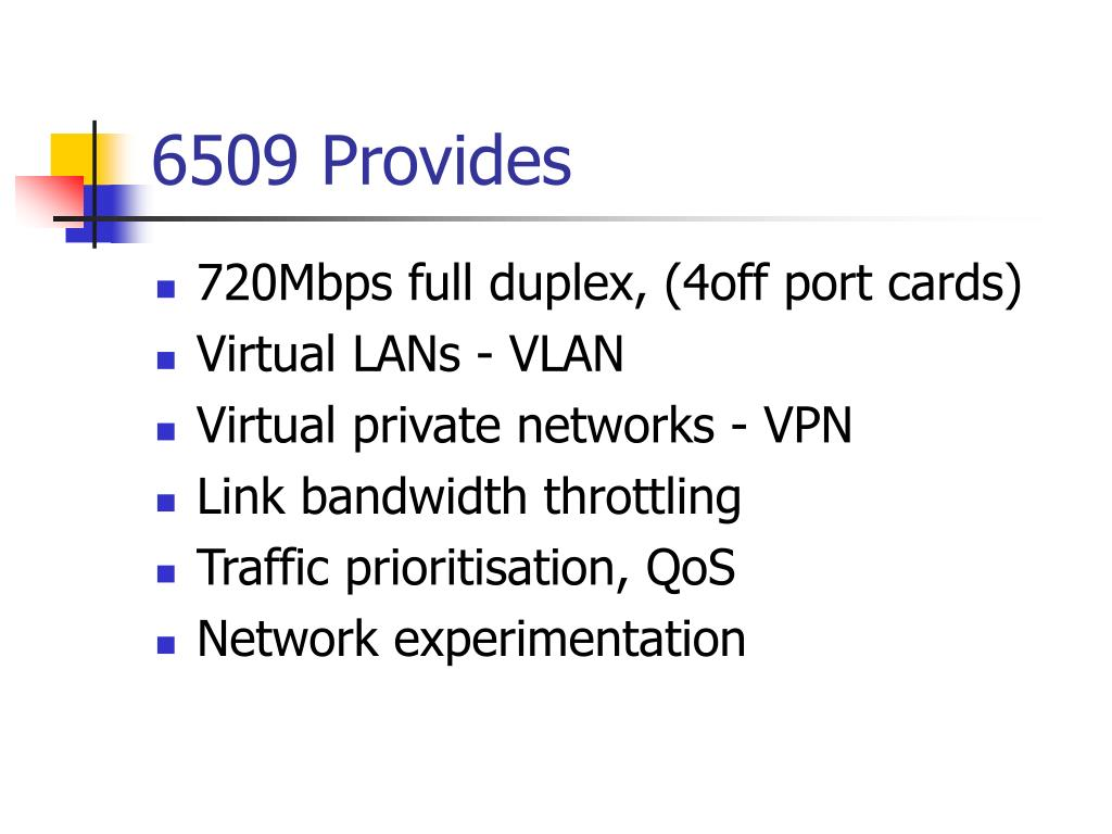 6509 Provides