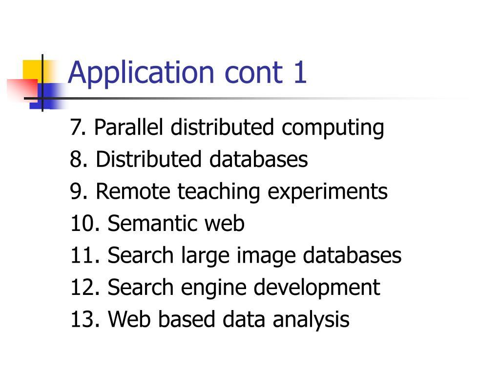 Application cont 1