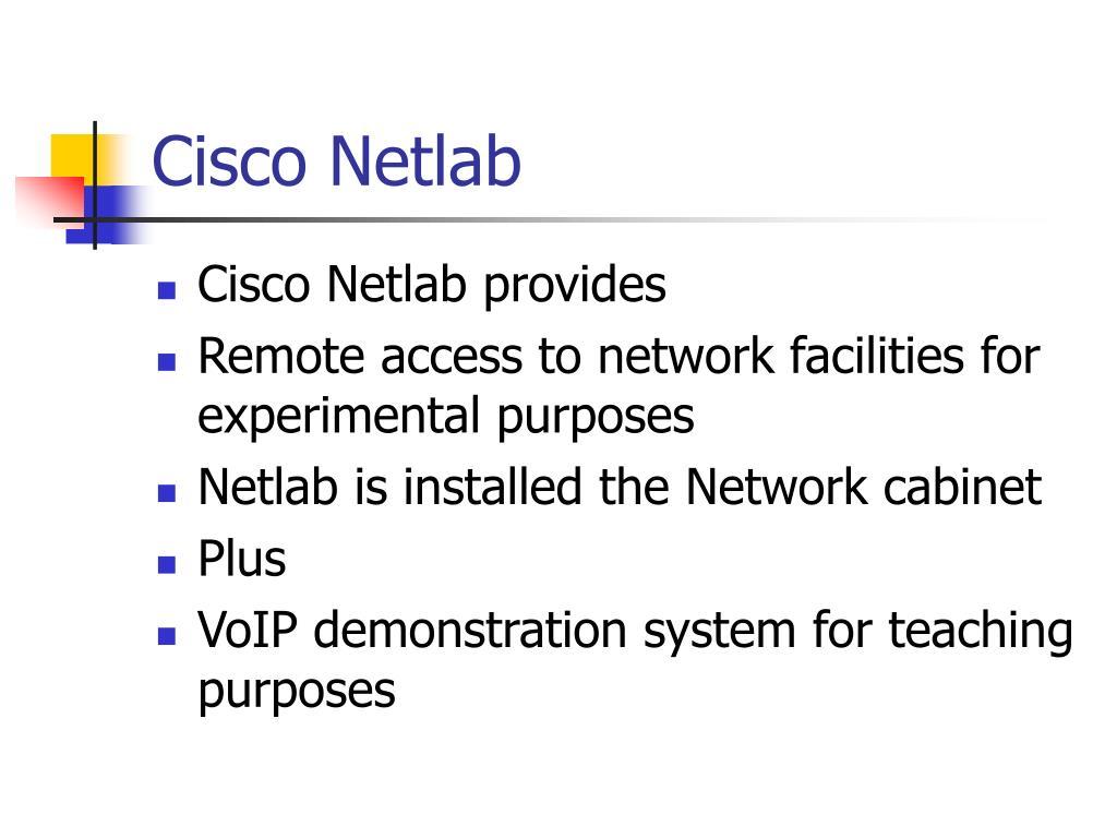 Cisco Netlab