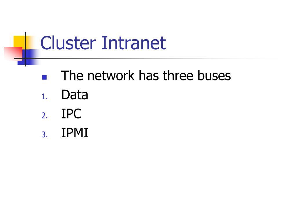 Cluster Intranet
