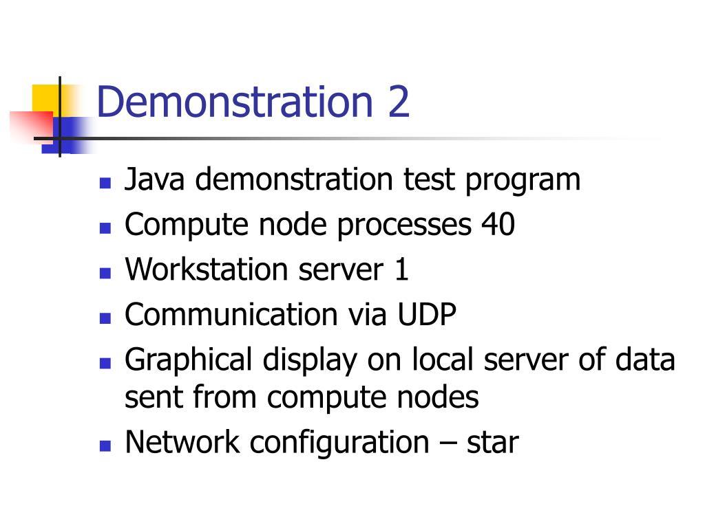 Demonstration 2