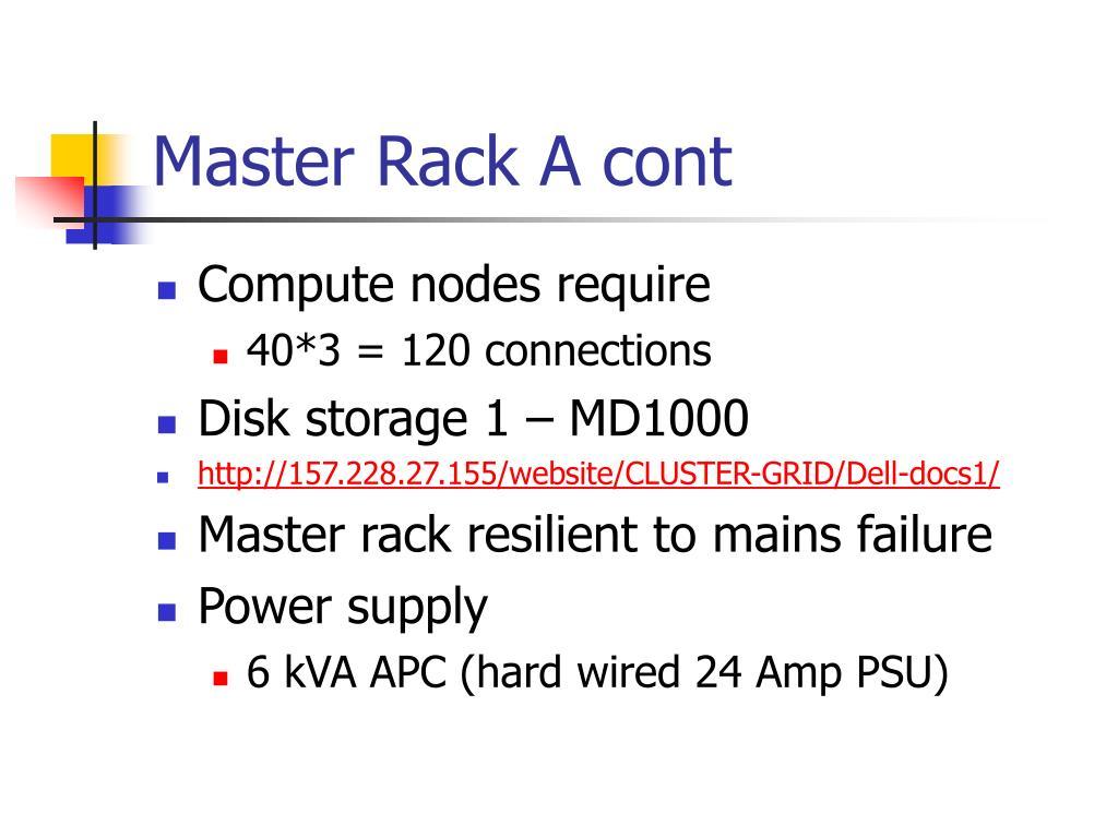 Master Rack A cont