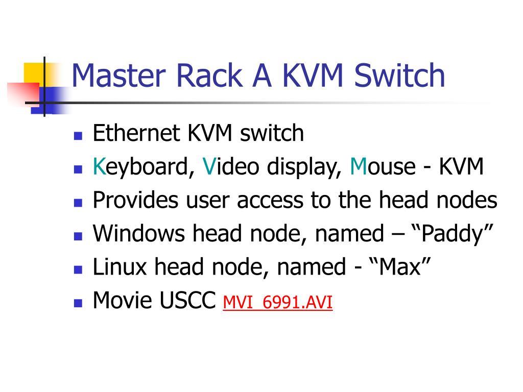 Master Rack A KVM Switch