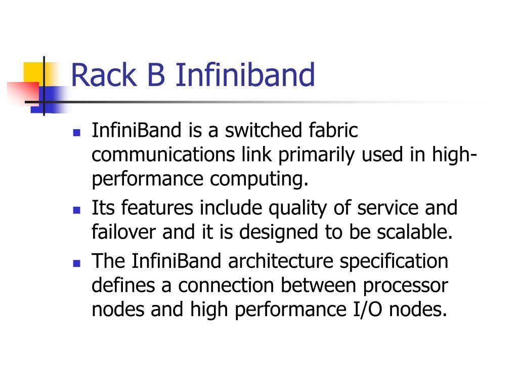 Rack B Infiniband
