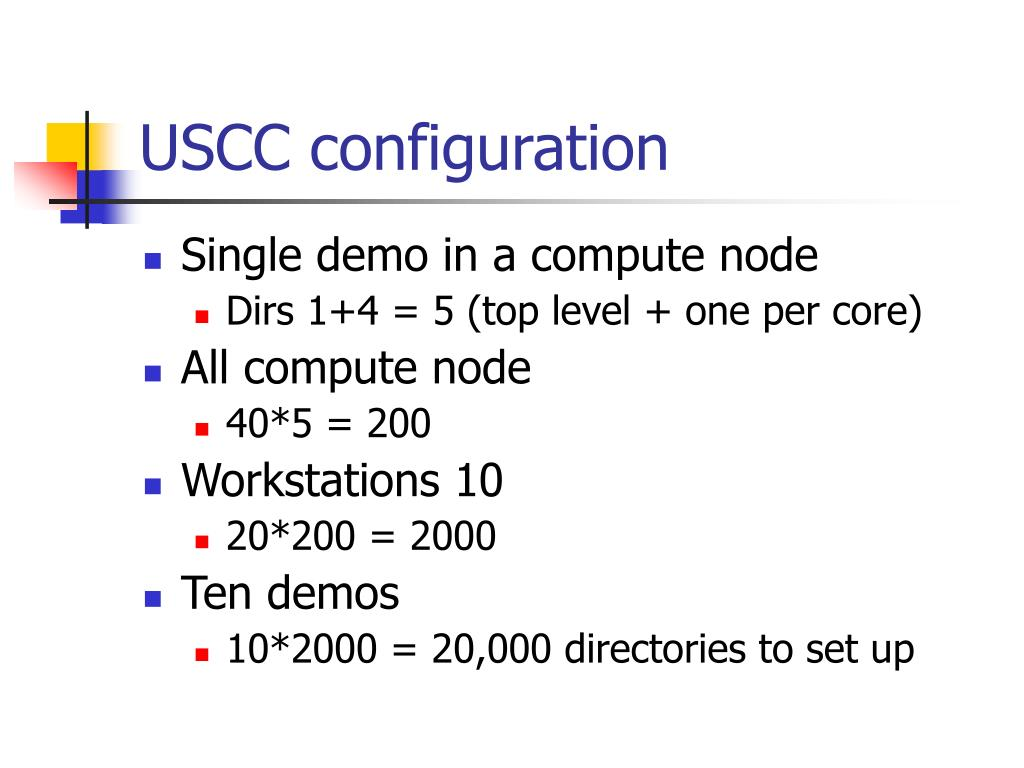 USCC configuration