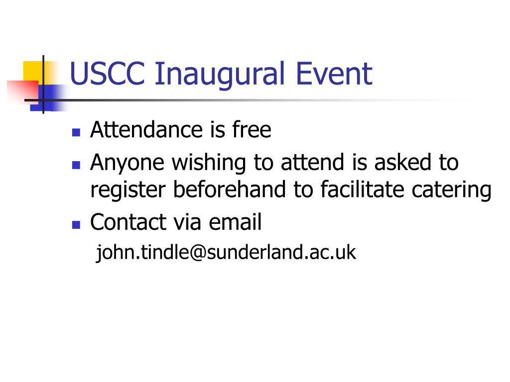 USCC Inaugural Event