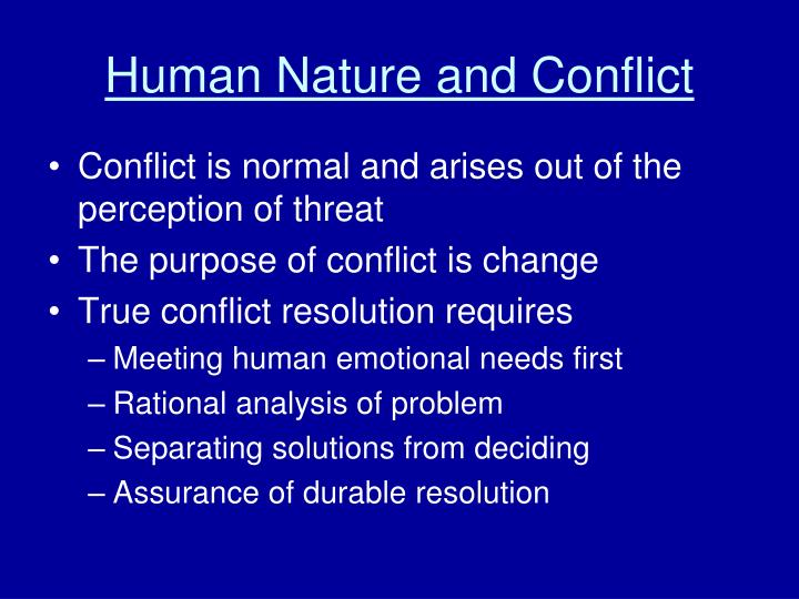 Human nature and conflict
