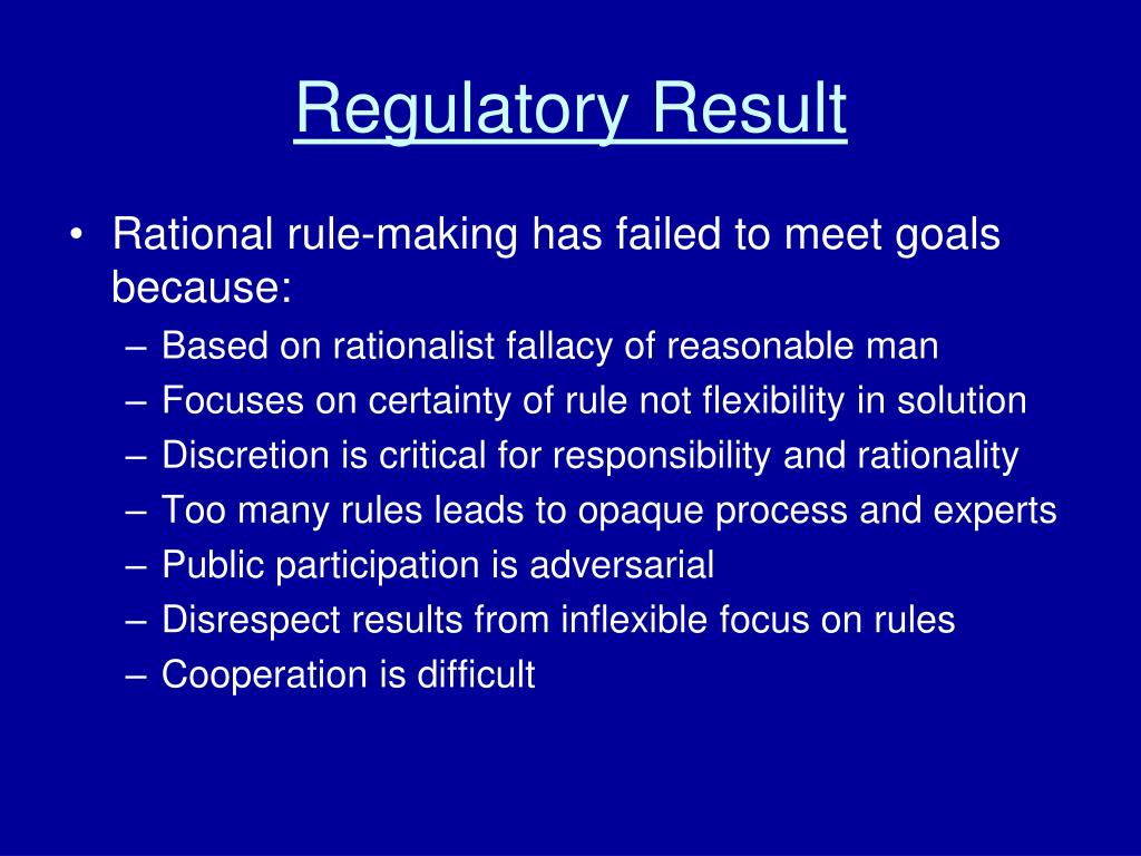 Regulatory Result