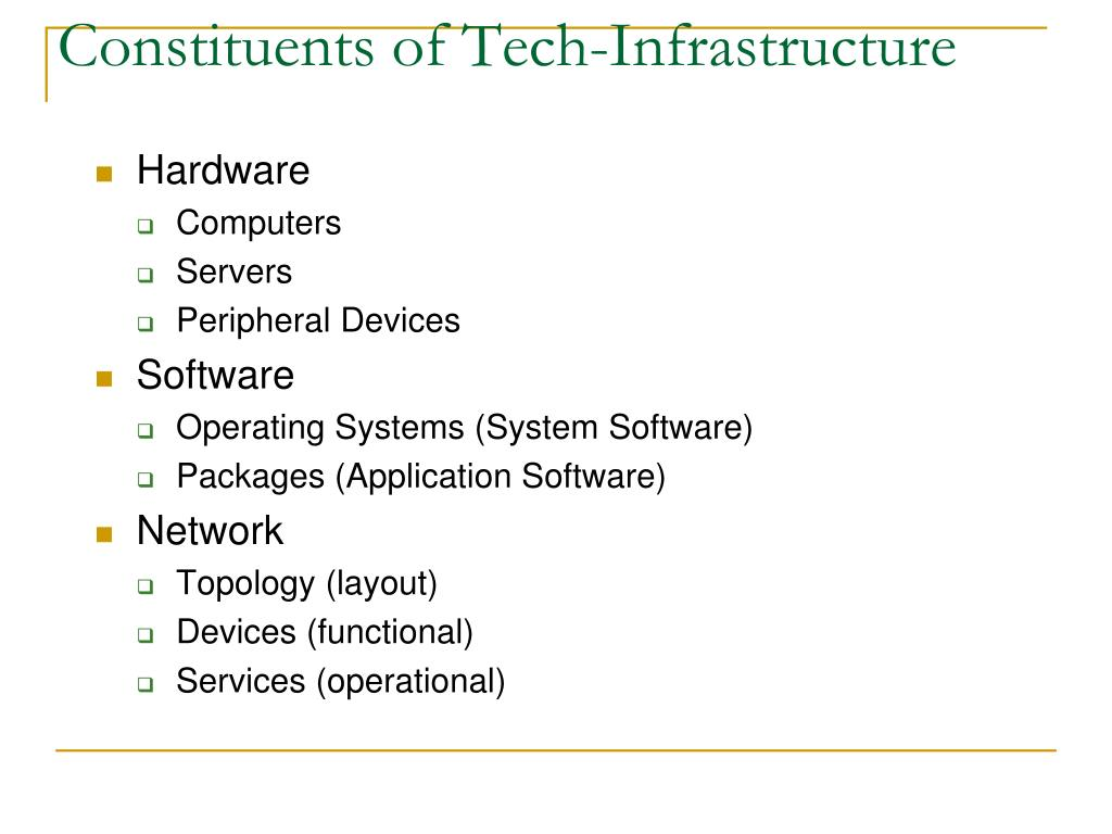 Constituents of Tech-Infrastructure