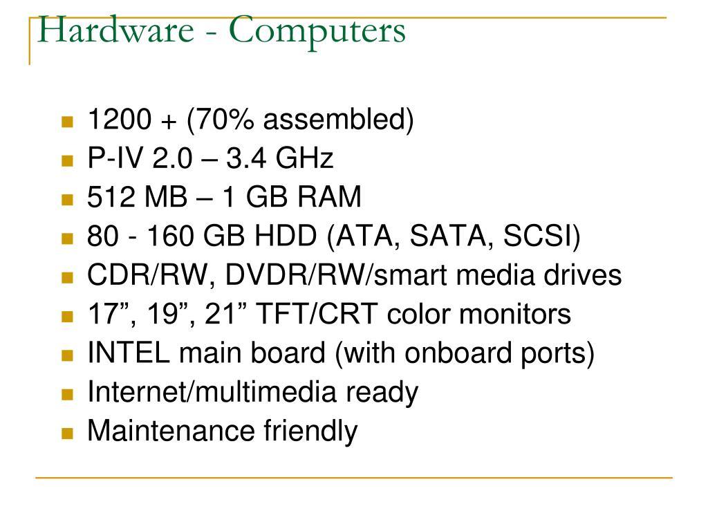 Hardware - Computers