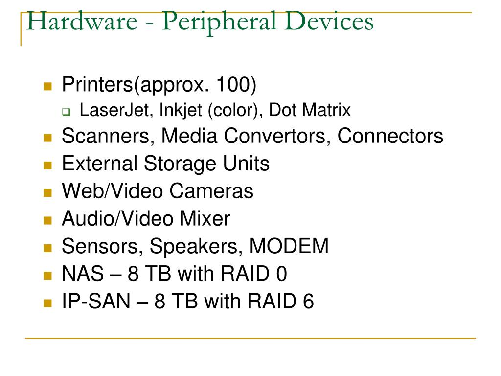 Hardware - Peripheral Devices