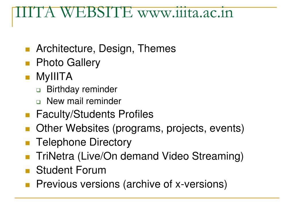 IIITA WEBSITE www.iiita.ac.in