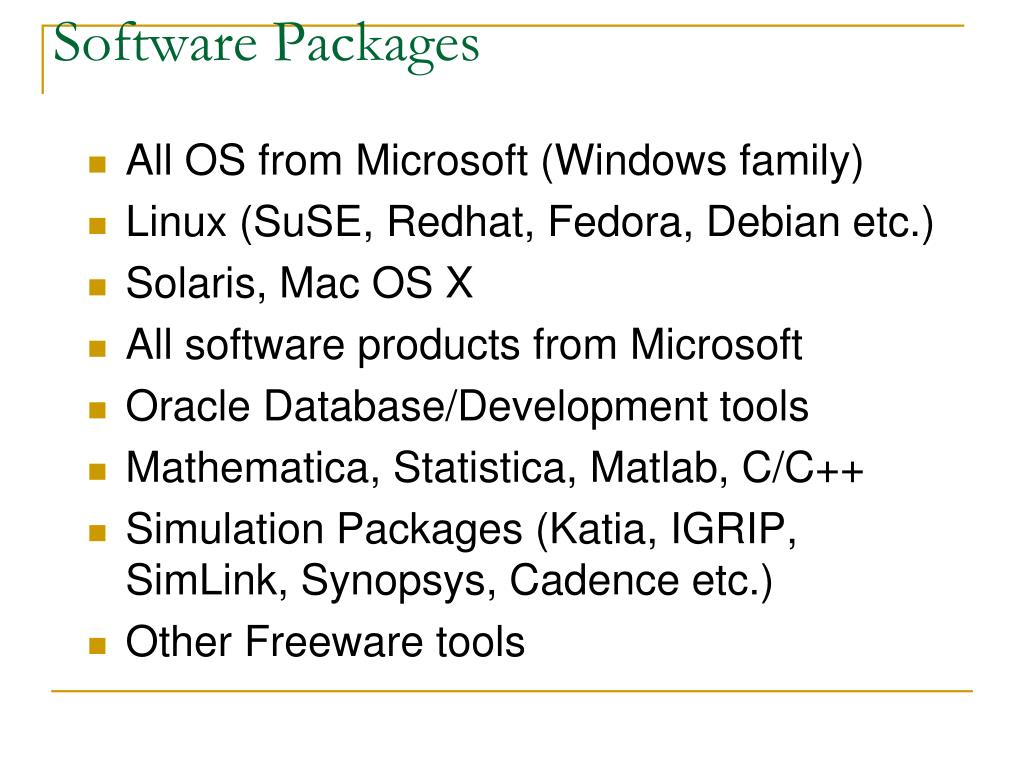 Software Packages