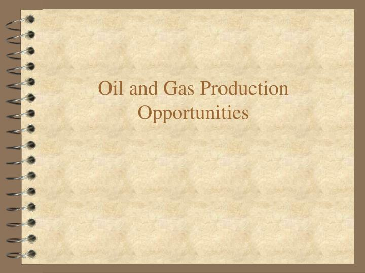 Oil and Gas Production Opportunities