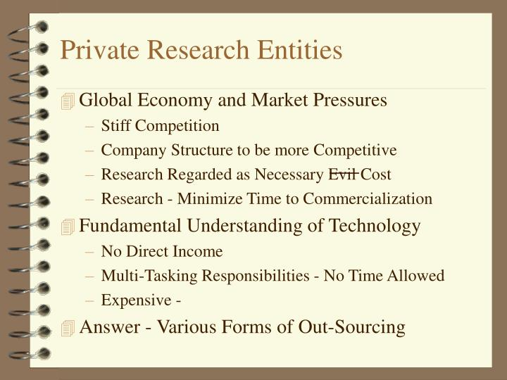 Private Research Entities