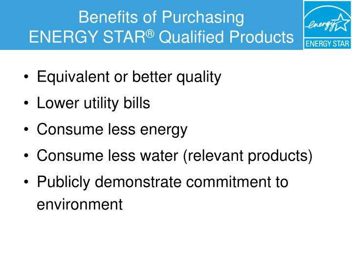 Benefits of Purchasing