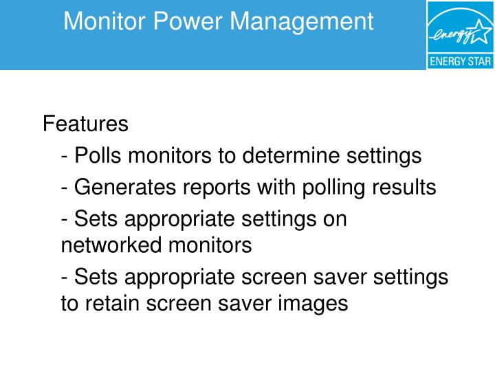 Monitor Power Management