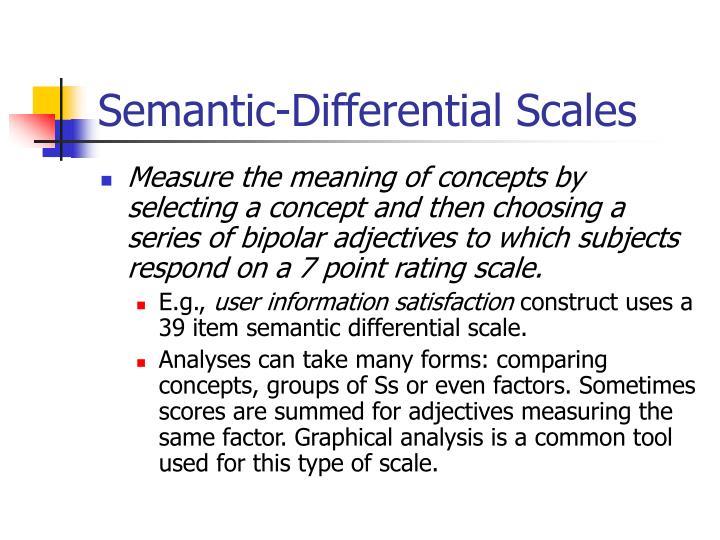 Semantic-Differential Scales