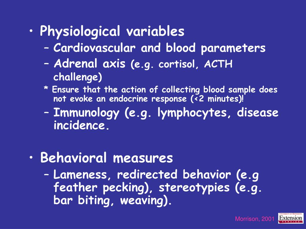Physiological variables