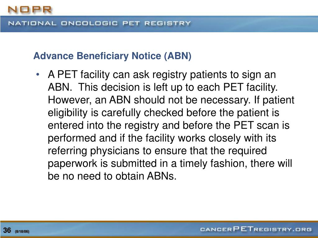 Advance Beneficiary Notice (ABN)