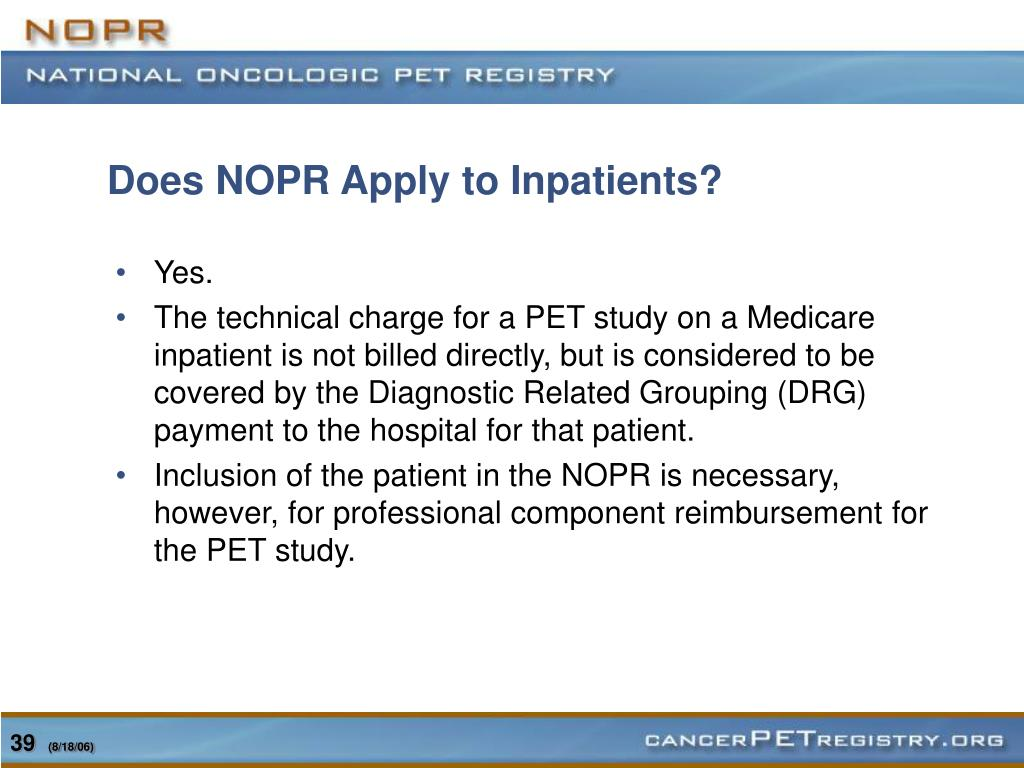 Does NOPR Apply to Inpatients?