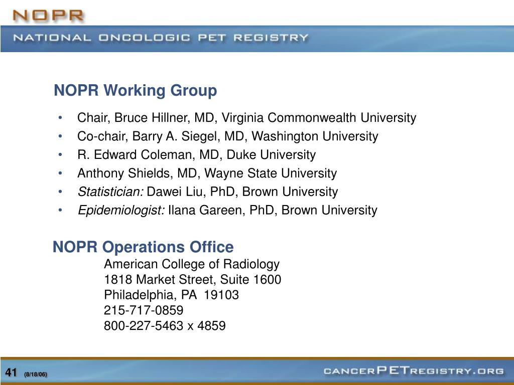 NOPR Working Group