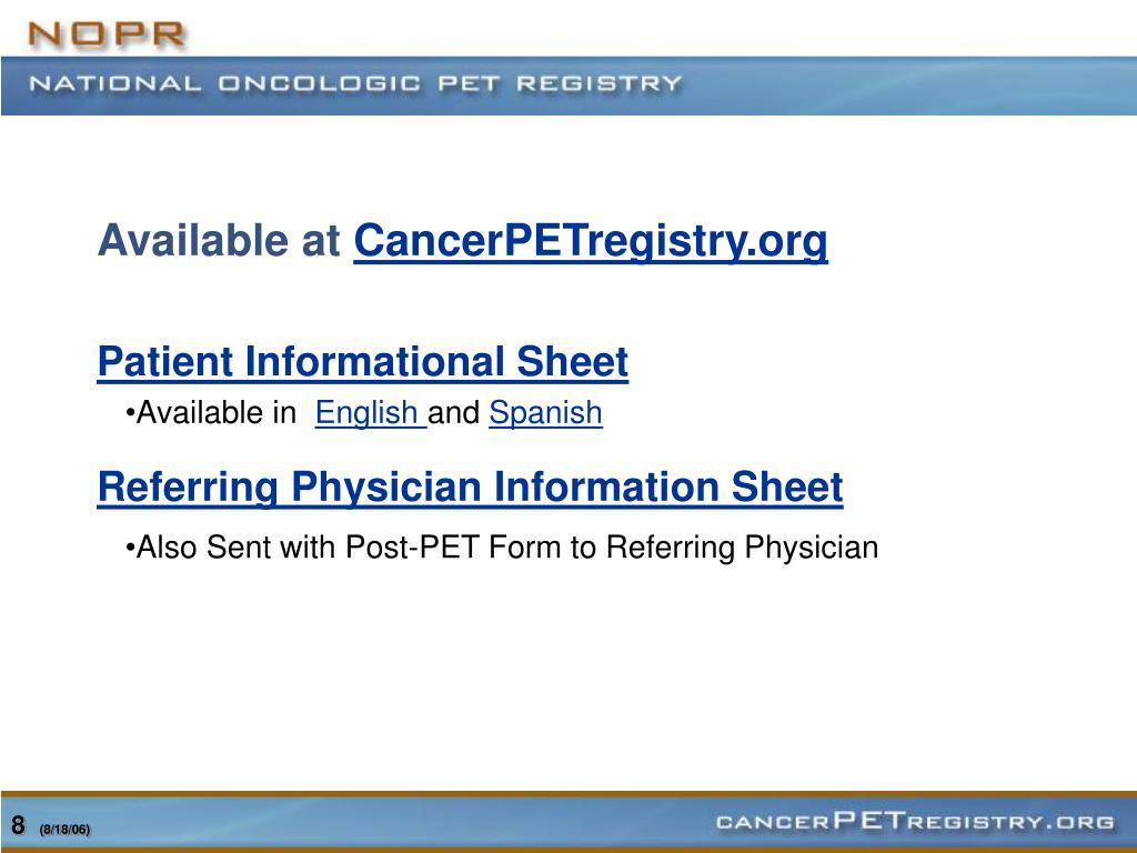 Patient Informational Sheet